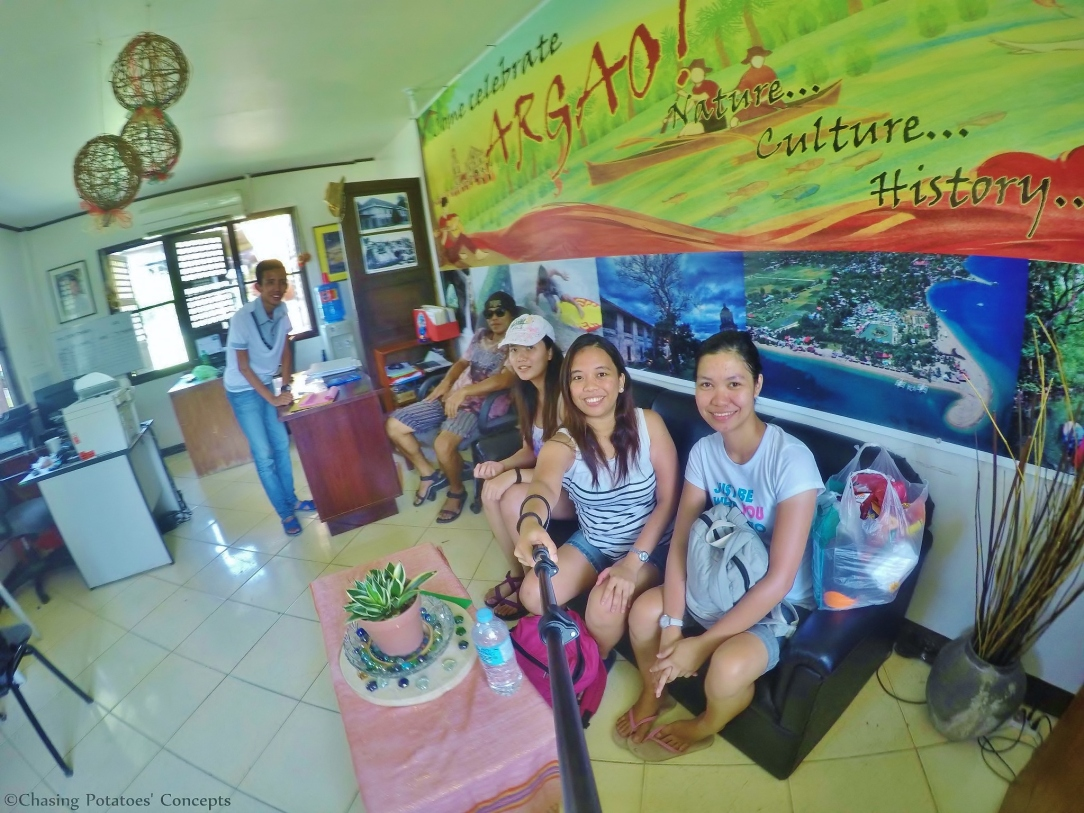 Inside the office of tourism in Argao
