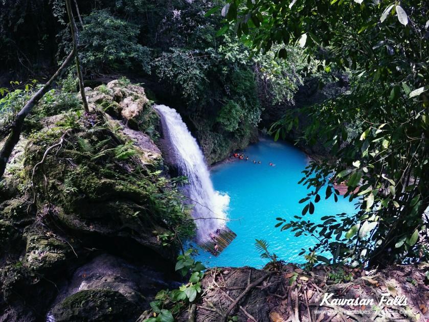 26. Be enchanted by Kawasan Falls.